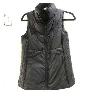 Champion Puffer Vest SZ Small Black Fleece Collar